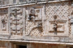 Friso del palacio occidental de la Casa de las Monjas, Uxmal, Periodo clasico